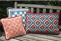 Red, white and blue patterns in the cross-point Collection