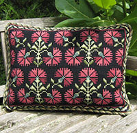 photo of Carnation Pillow from the cross-point Collection