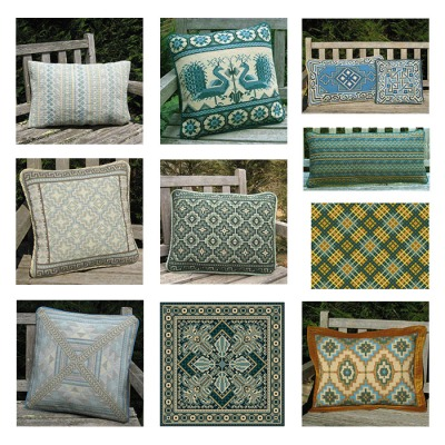 sample images of ocean huewed pillows