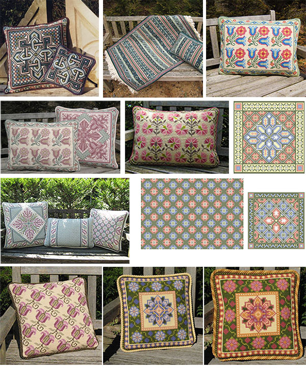 Pastel Pillows in the cross-point Collection