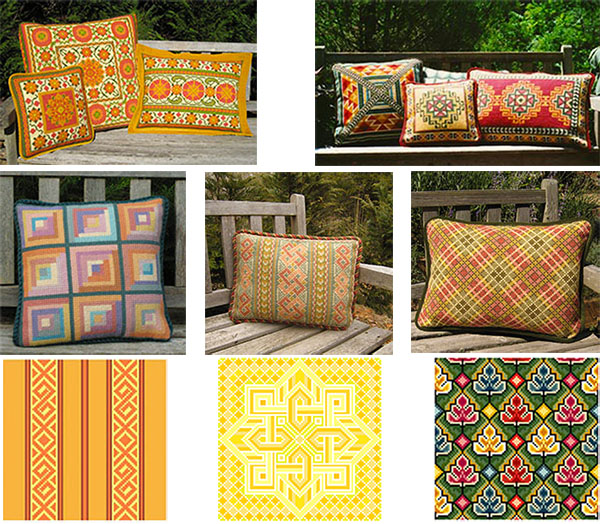 Pillow & Upholstery Patterns in the cross-point Collection
