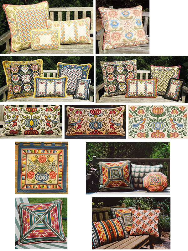 cross-point pillows - Meadow & Field colors