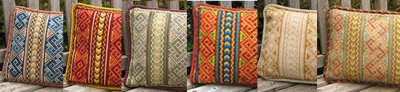 color range for Celtic Knot pillows