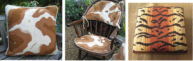 Pony Pillow & Upholstery and Tiger patterns.