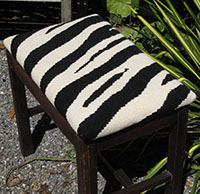 Zebra Upholstery on Stool