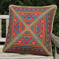 Large Tabriz in 05 colors-red,blue, gold, brown