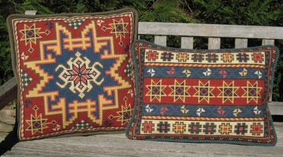 Small Kilim square and Kilim Stripe rectangle