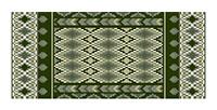 Morocco Stripe Coverlet in soft greens