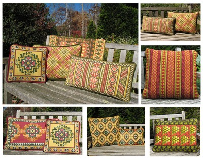 Companion Pillows to Grape with Leaf Border