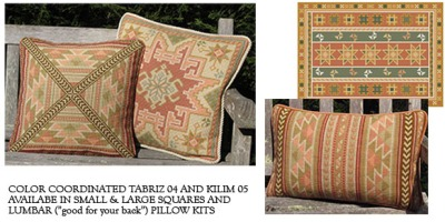 color coordinated Tabriz and Kilim