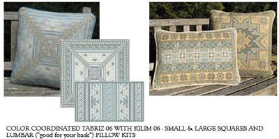 Color coordinated Tabriz and Kilim