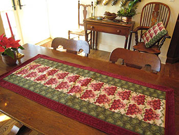 grape table runner in o1 colors