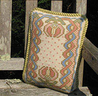 Morville accent pillow in pastels