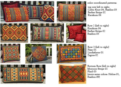 primary color pillows